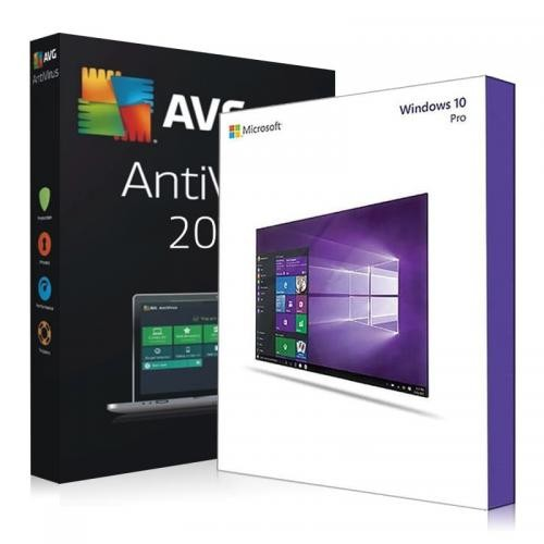 Windows 10 Pro + AVG Protection 2017 Download + Lizenzschlüssel
