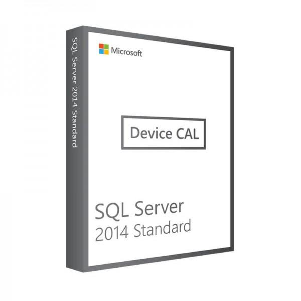 Microsoft SQL Server 2014 Std 10 Device CALs