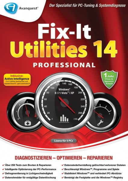 Fix It Utilities 14 Professional (5 PC - 1 Jahr)