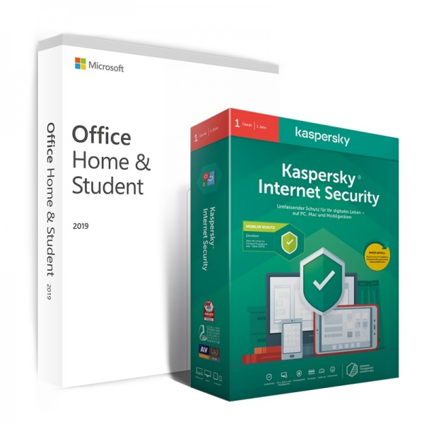 Kaspersky Internet Security + Office 2019 Home & Student