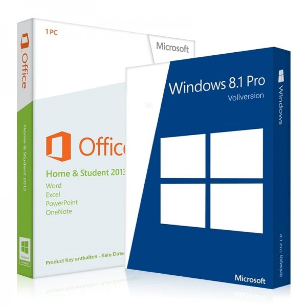 Windows 8.1 Pro + Office 2013 Home & Student