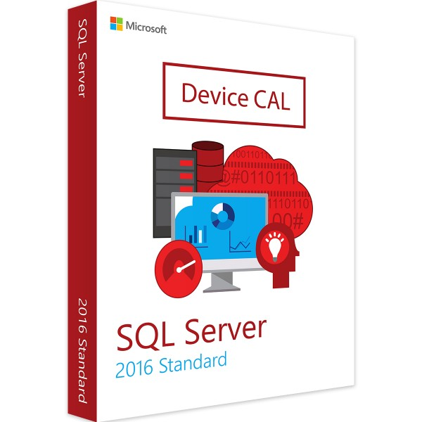Microsoft SQL Server 2016 Std 10 Device CALs