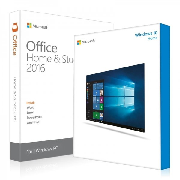Windows 10 Home + Office 2016 Home & Student