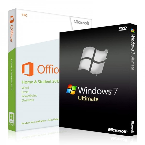 Windows 7 Ultimate + Office 2013 Home & Student