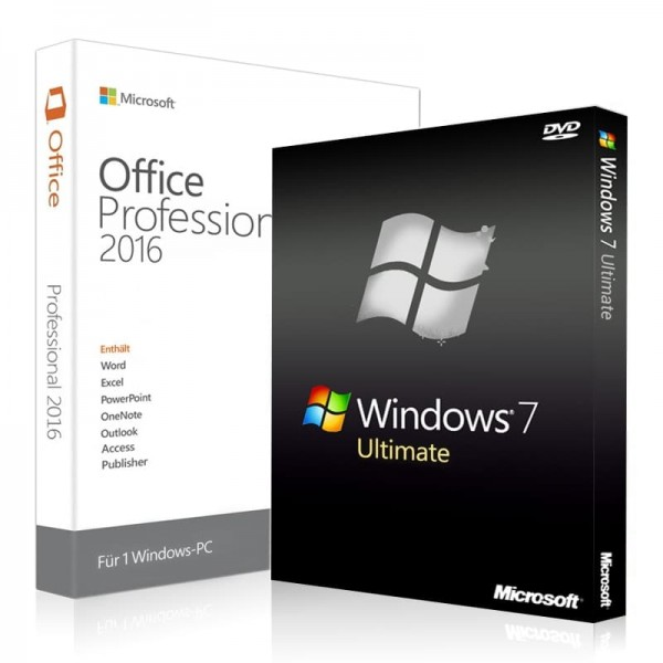 Windows 7 Ultimate & Office 2016 Professional