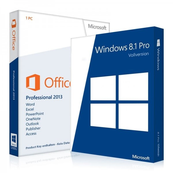 Windows 8.1 Pro + Office 2013 Professional