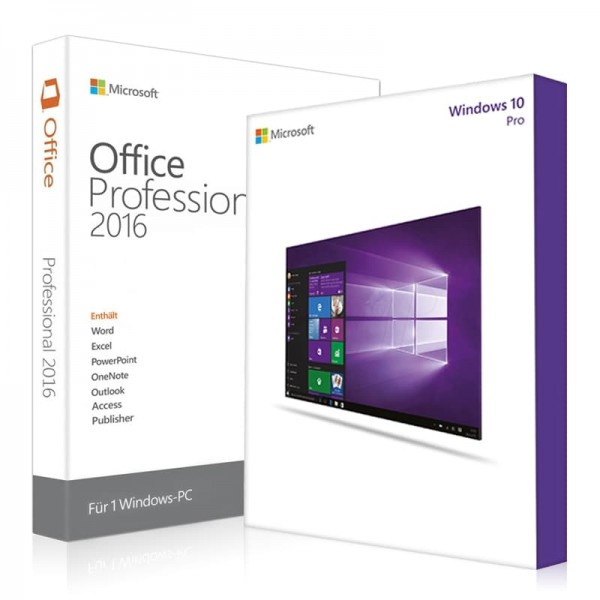 Windows 10 Pro + Office 2016 Professional