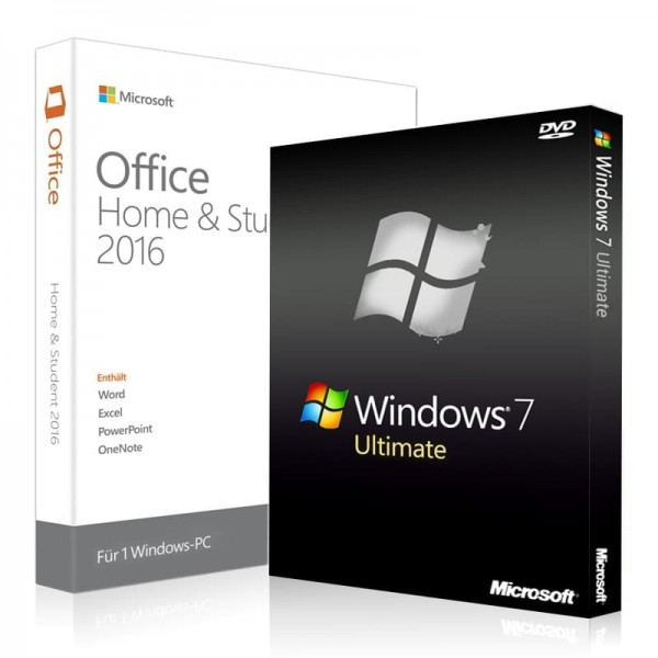 Windows 7 Ultimate + Office 2016 Home & Student