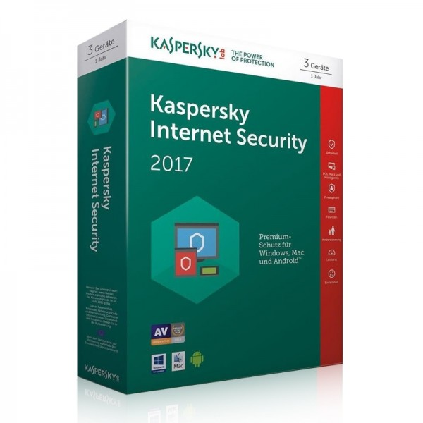 Kaspersky Internet Security 2017 1 Jahr Lizenz